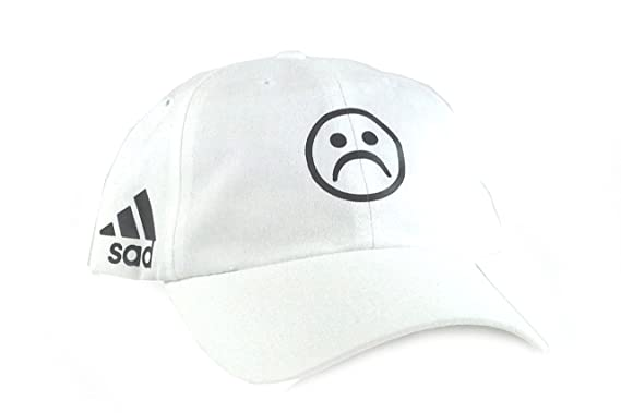 Sad Hat by VERY RARE NY (White (strap)) at Amazon Men s Clothing store  69fd905721ce