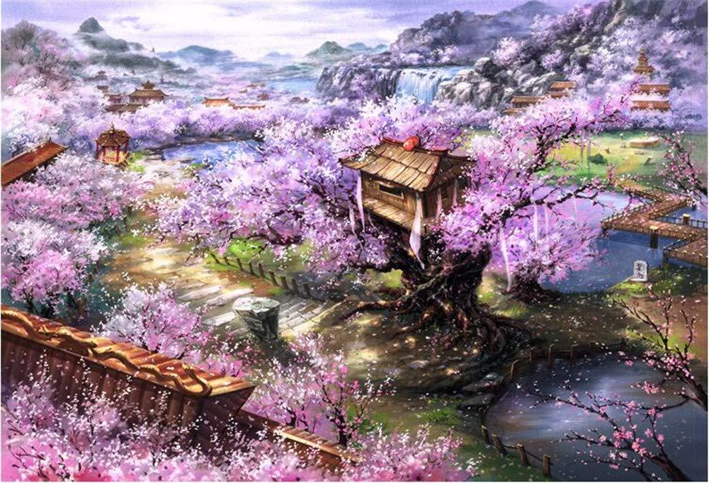 速くおよび自由な Queenie Wooden Premium Wooden B07H8CNPHH Jigsaw Puzzle for 1000 Piece 7670cm Beautiful Colourful Sakura Villa Landscape Oil Painting Puzzles Games for Adults B07H8CNPHH, 草津市:71148ef1 --- a0267596.xsph.ru