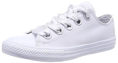 26cdd918b0551c Converse Kids  CTAS Big Eyelet OX Trainers White Pure Platinum 082 11.5UK  Child