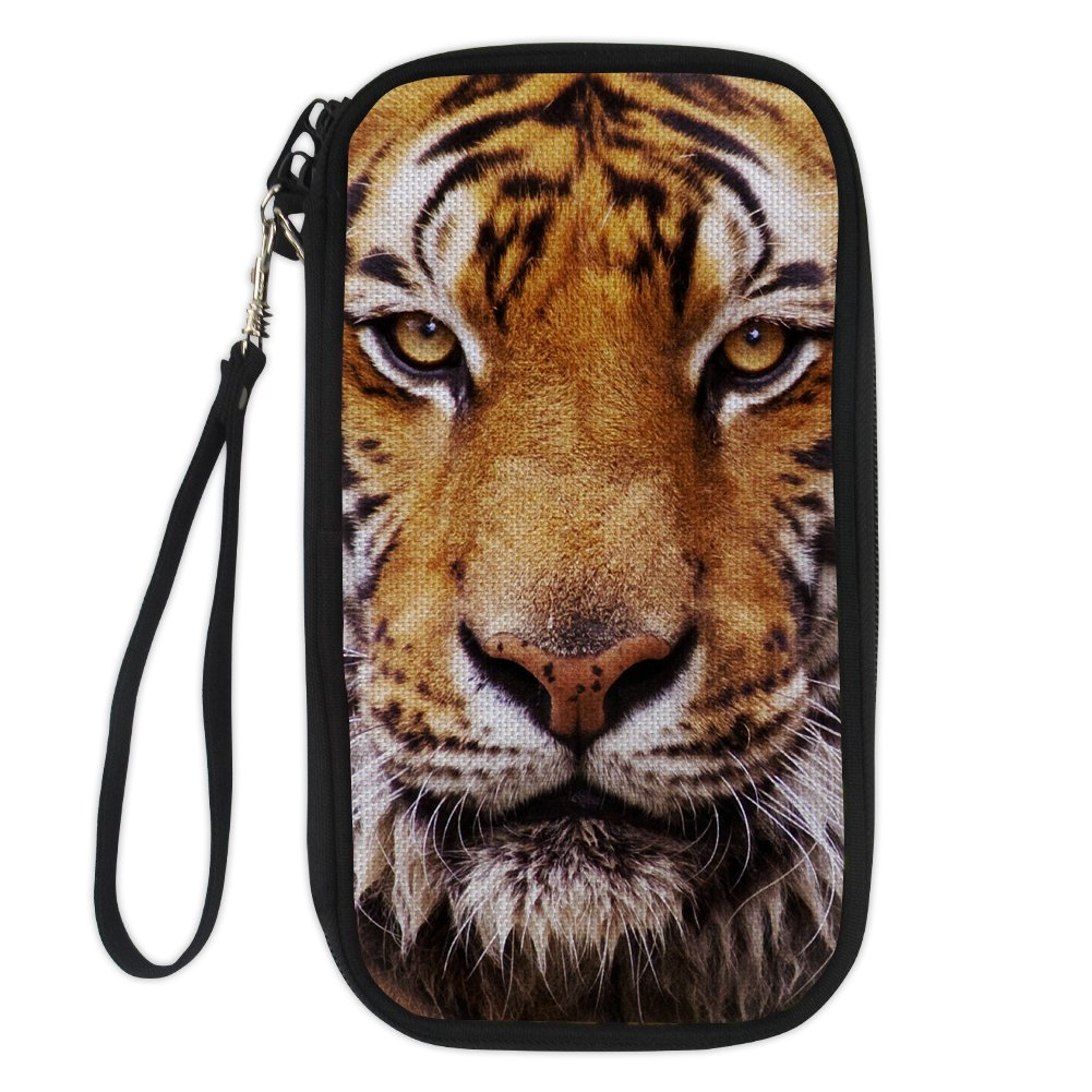 FOR U DESIGNS Animal Printing Passport Holder Zipper Travel Money Card Wallet