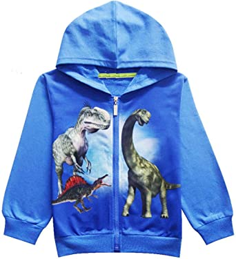 Thombase Boys Girls Dinosaur Pattern Kids t Shirts 3D Printed Hoodies
