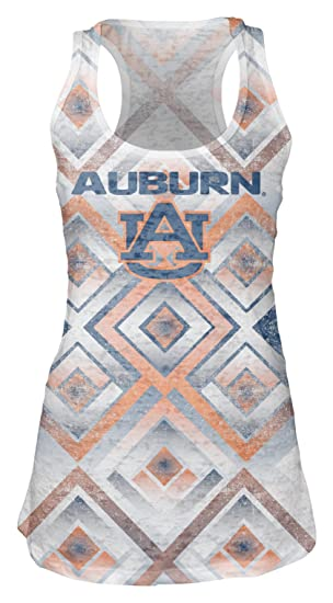2bb16404a35d Blue 84 NCAA Auburn Tigers Women's Sublimated Burnout Tank Top, Small, White