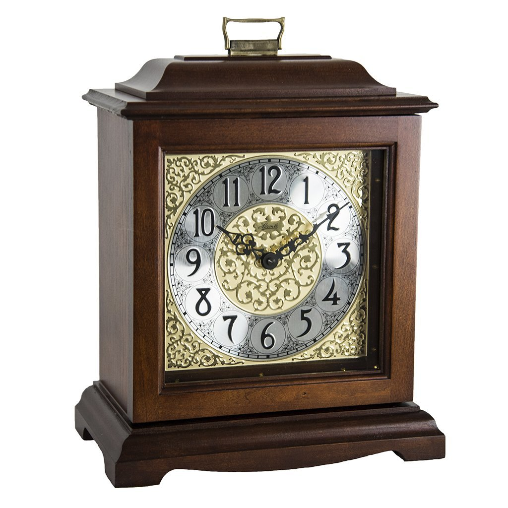 Qwirly Store: Austen Bracket-Style Quartz Mantel Clock by Hermle 22518N9Q -  Classic Decorative Antique Style Table Clock with Westminster Chime