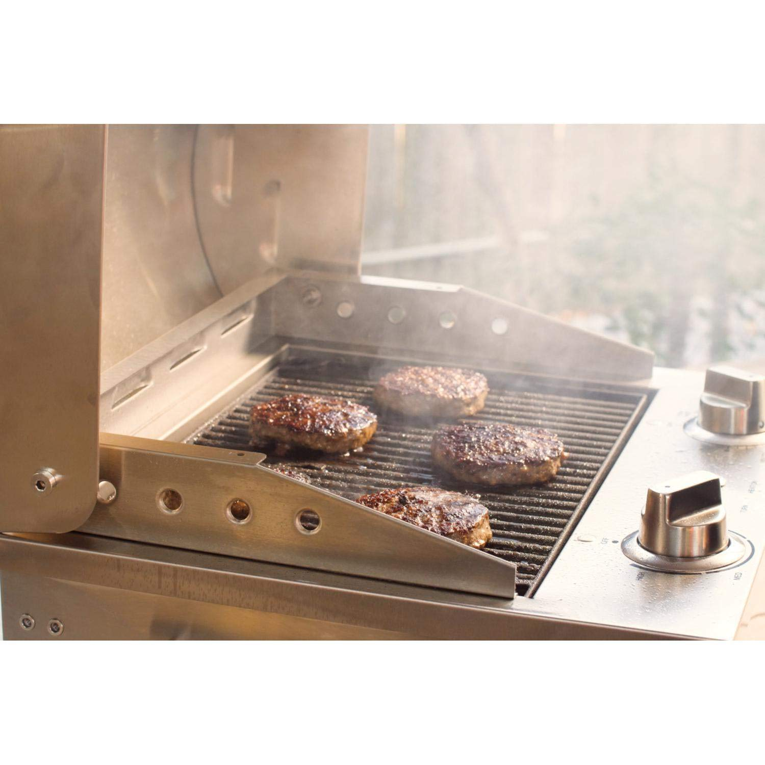 Coyote C1EL120SM 19 Electric Grill with 156 sq. in. Cooking Area 5000 Hour Heating Element 304 Stainless Steel Teflon Coated Cooking Surface Ceramic Flavorizer and Removable Frame