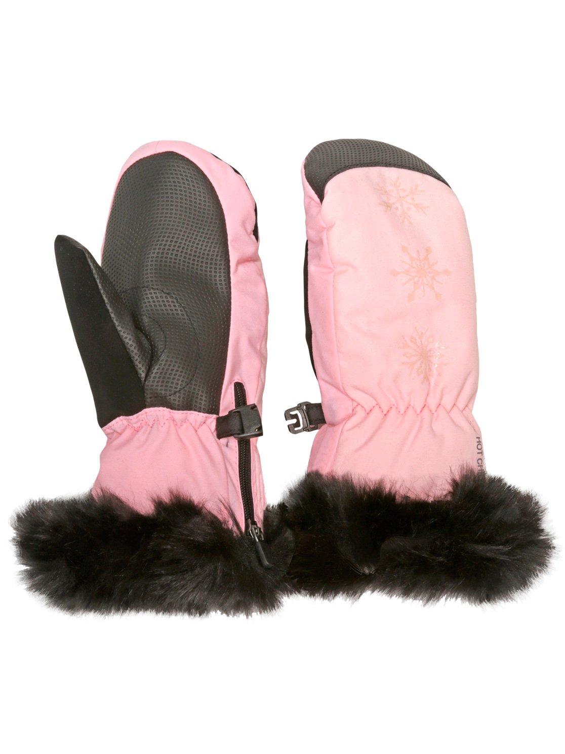 Hot Chillys Toddler Flurry Mitten, Parfait Pink, Medium HC9331