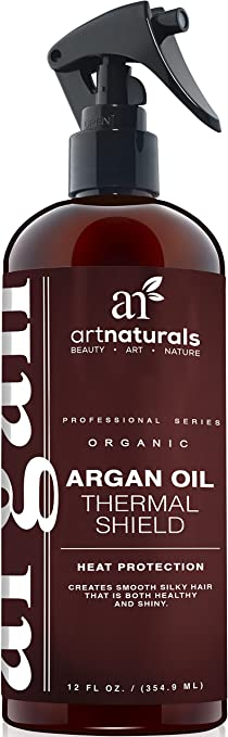 art naturals argan oil thermal shield heat protection