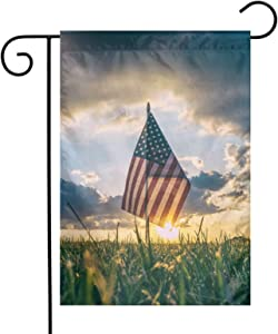 Memorial Day Garden Flag 12x18 Double Sided. Holiday Small Sign Decoration Thanks The Dead Heroes Banner for Home Yard Outdoor