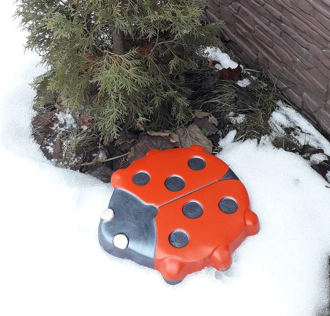 "Ladybug stepping stone mold plaster concrete casting mould 10/"" x 9/"" x 1/"""