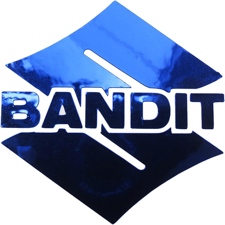 Suzuki Bandit S Blau Chrom Motorrad Aufkleber Aufkleber Grafiken X 2 Stück Auto