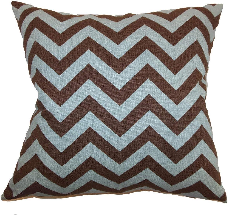 Amazon Com The Pillow Collection Xayabury Zigzag Village Natural Down Filled Throw Pillow Home Kitchen