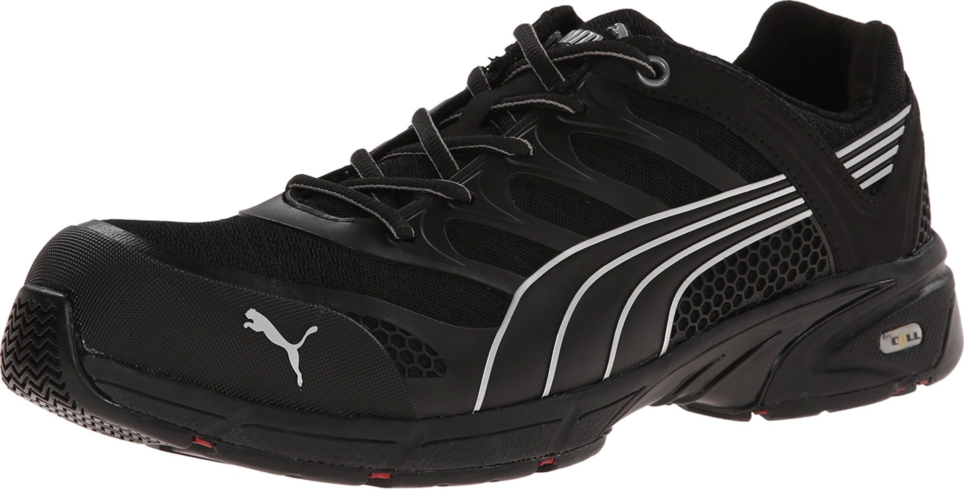 Men's Puma Safety Fuse Motion SD Low Safety Toe Shoes, Black/Black, 13D