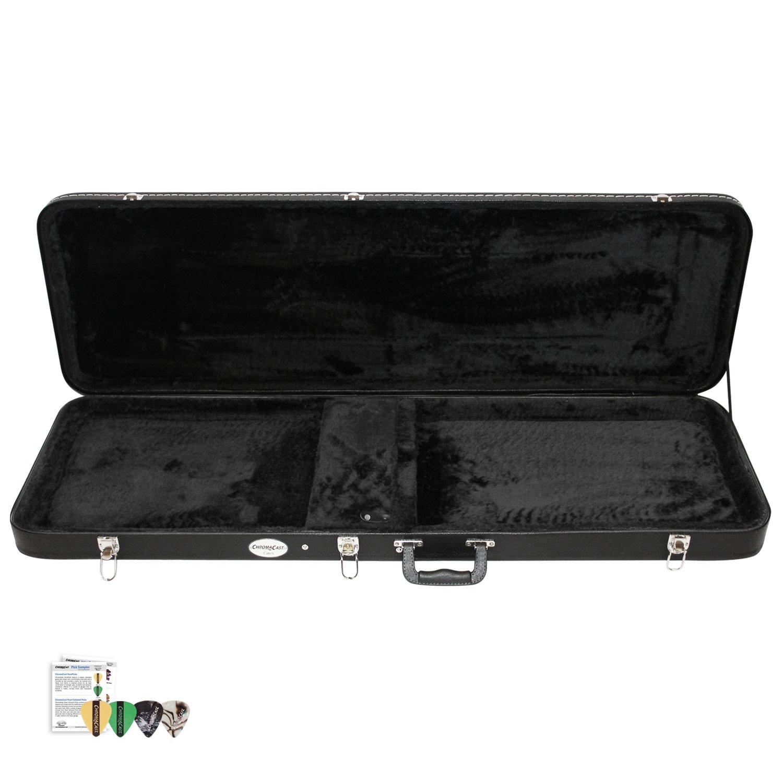 ChromaCast CC-BHC-KIT-3 Bass Guitar Hard Case with Pick Sampler by ChromaCast