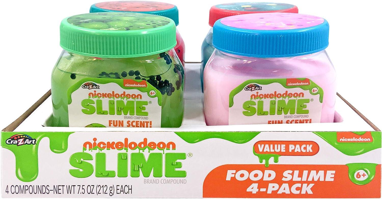 Cra-Z-Art Nickelodeon Slime Fun Food Premade Slime 4 Pack
