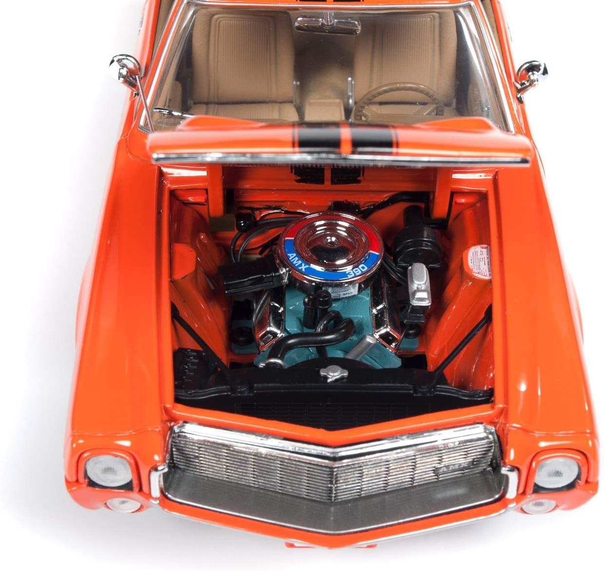 AMC AMX Hardtop Hemmings Muscle Machines big bad orange 1:18 Auto world NEU OVP