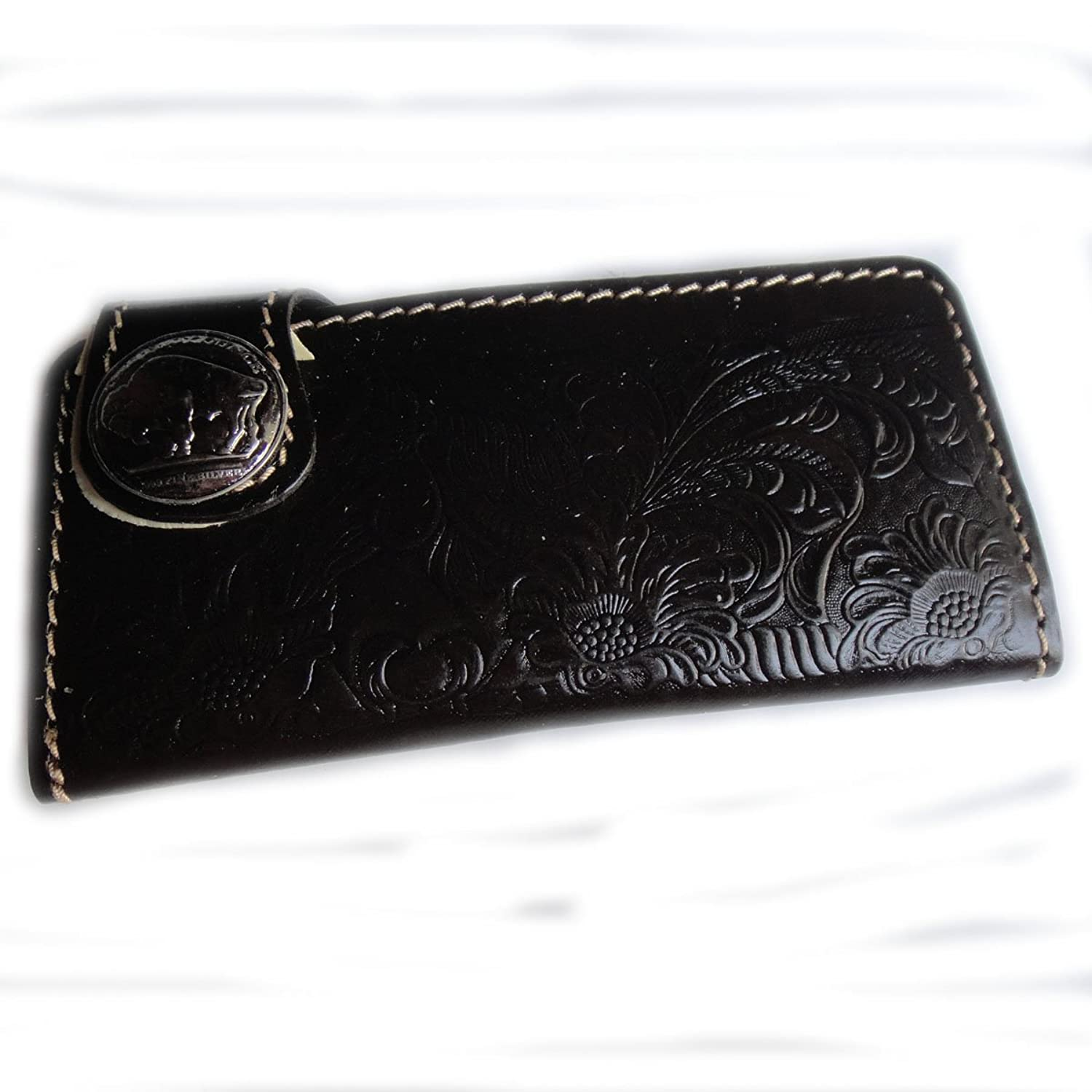 BIKER AND TRUCKER CLUTCH WALLET WITH CHAIN MADE FROM COW HIDE
