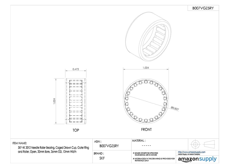 cuscinetto in acciaio SKF ago radiale cuscinetto a rulli 20.000/ID