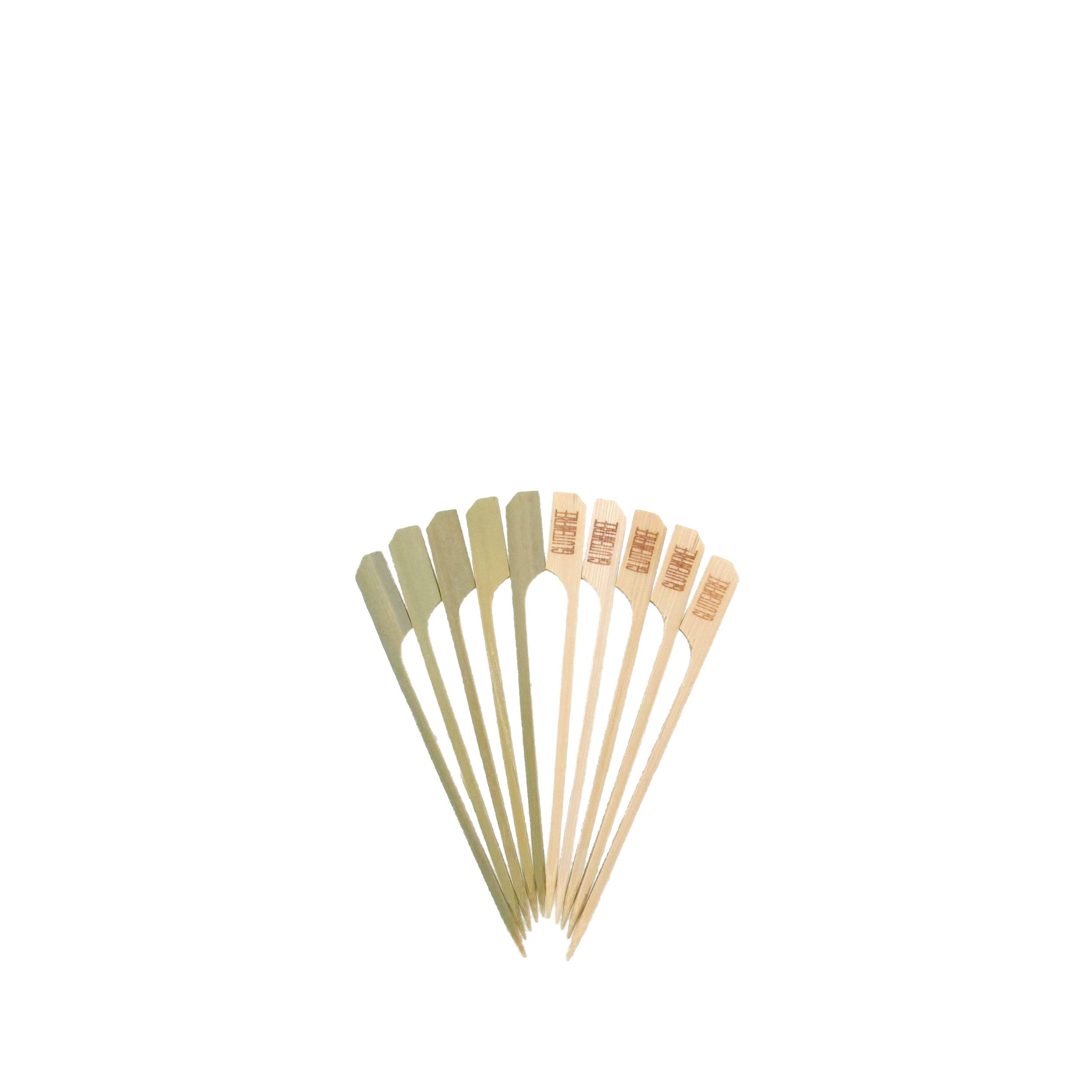 BambooMN 4.7'' Gluten Free Food Marking Natural Bamboo Paddle Skewers Picks Sticks for Catered Events, Holiday's, Restaurants or Buffets Party Supplies, 1000 Pieces by BambooMN