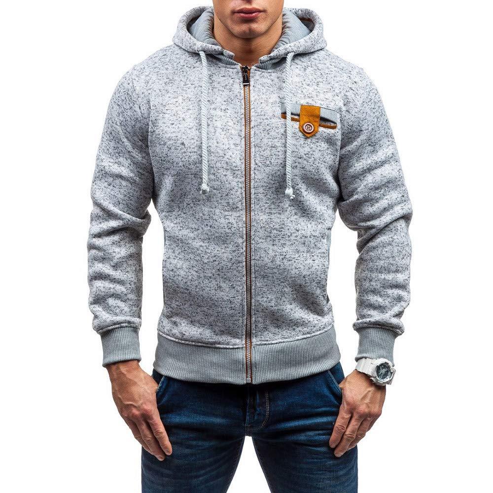 Hoodies Sweatshirt Tops for Men,Mens Hoodies Pullover Heavyweight Sherpa Lined Zip Up Fleece Hoodie Jacket Men and Women Gray