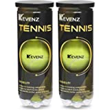 KEVENZ 6-Pack Pressurized Tennis Ball, 2 Cans with Seal Design,Advanced All Courts Balls,Highly Elasticity, More Durable…