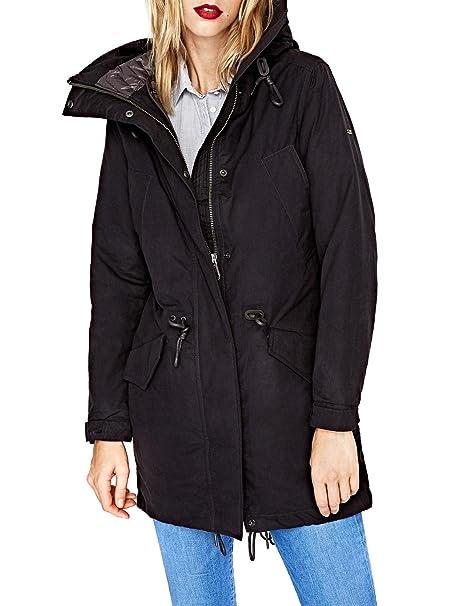 new styles 7d831 5a08f Pepe Jeans Parka Brenda Blu: Amazon.it: Abbigliamento