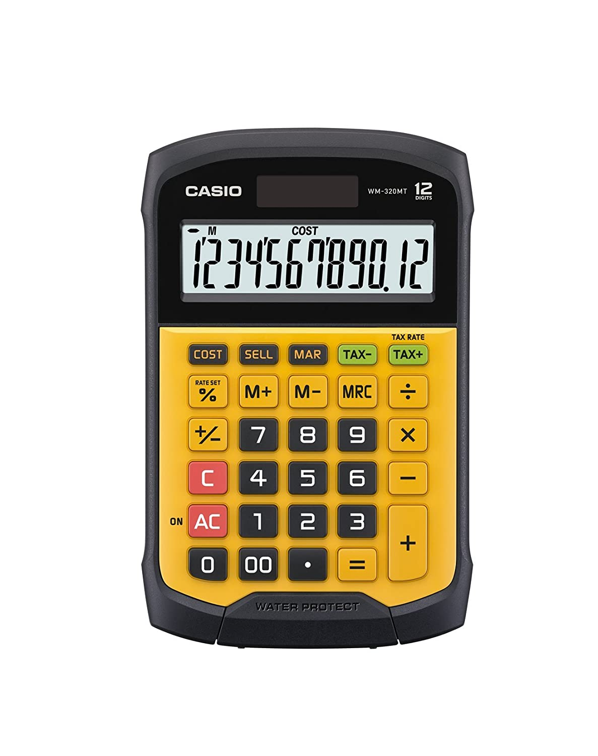 Casio WM-320MT Calculator, 9.27L x 6.2W x 1.42H Yellow/Black Casio Inc.