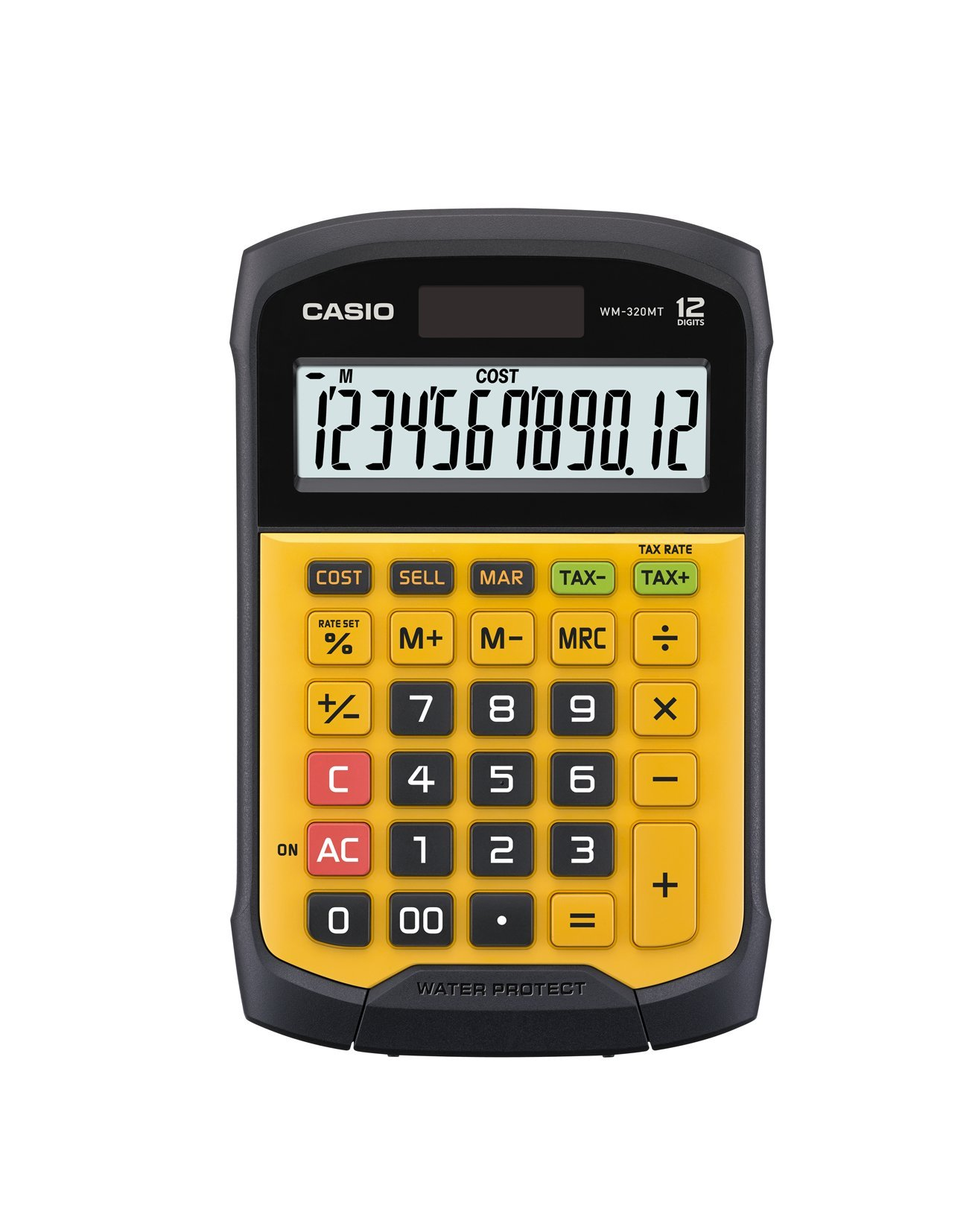 Casio WM-320MT Calculator, 9.27''L x 6.2''W x 1.42''H Yellow/Black