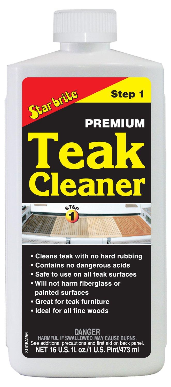 Star Brite Premium Teak Cleaner - Restore, Renew & Refresh Old Weathered Gray Teak Furniture & Other Fine Woods