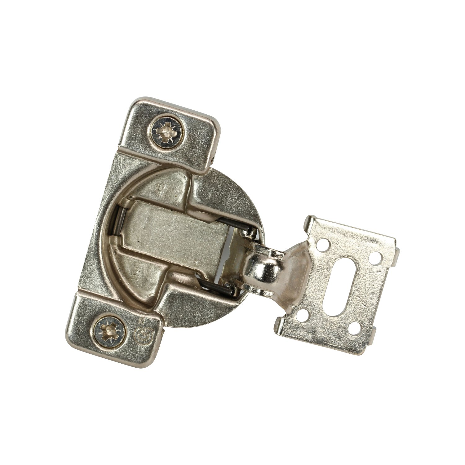 50 Pack Rok Hardware Grass TEC 861 108 Degree 7/16'' Overlay Self Close Press in Dowel Compact Cabinet Hinge 04728-16 45mm Boring Pattern