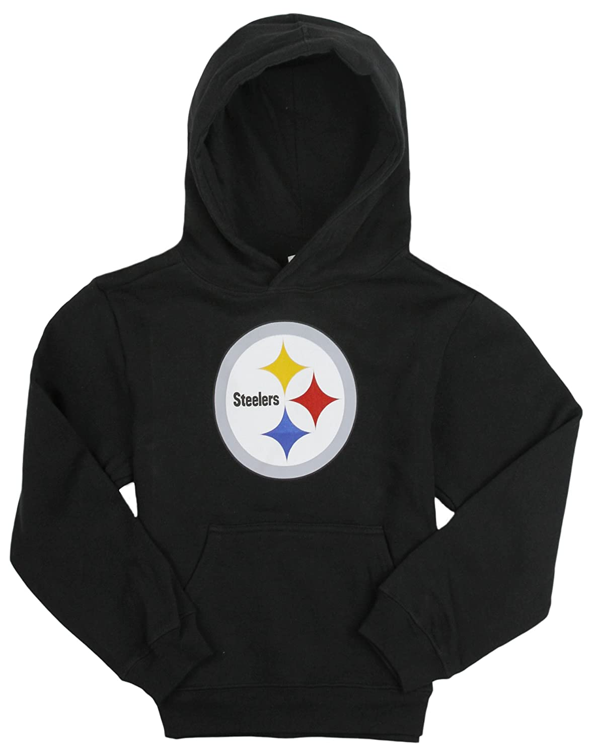 save off 160f2 3cd54 Outerstuff Pittsburgh Steelers NFL Big Girls, Kids Football Hoodie, Black