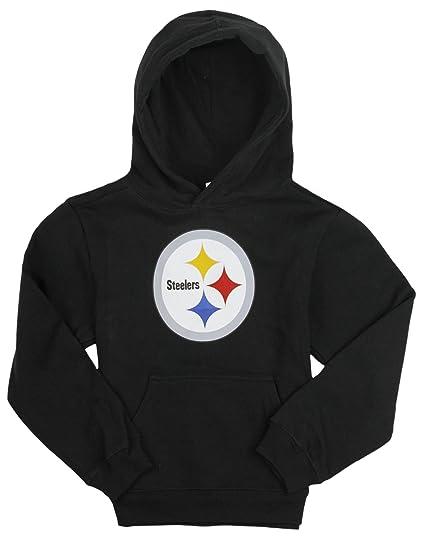Outerstuff Pittsburgh Steelers NFL Big Girls Football Hoodie - Black (Large  (14)) e27fa8134
