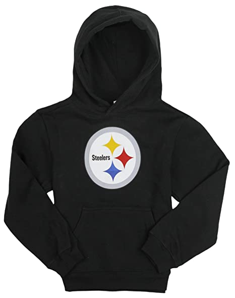 save off cd458 81fa2 Outerstuff Pittsburgh Steelers NFL Big Girls, Kids Football Hoodie, Black