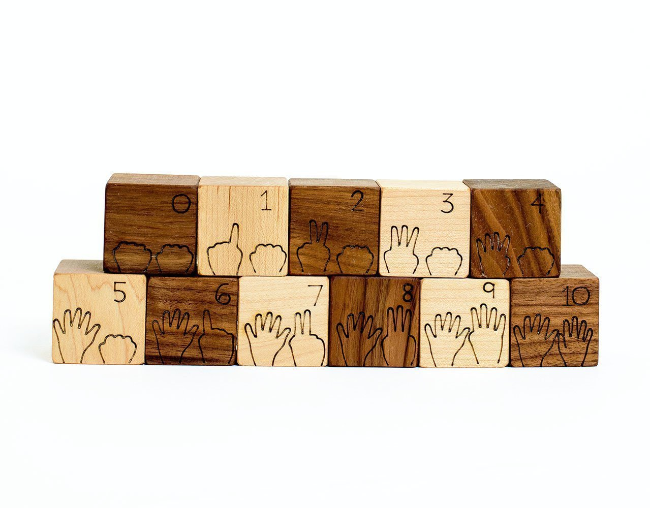 Counting Numbers Natural Wood Blocks Set