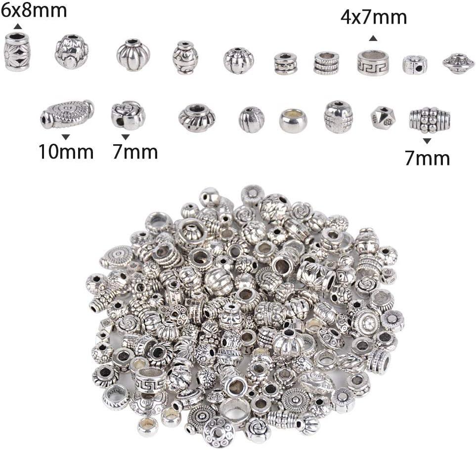 UK 10 SILVER PLATED~FILIGREE RHINESTONE CHARMS//SPACER BEADS 6-7mm Earrings 11B