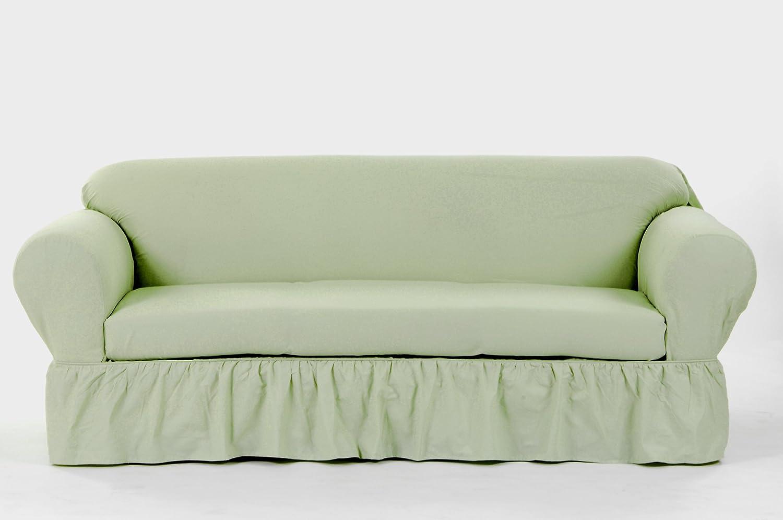 Tremendous Classic Slipcovers Wc202Prp 2 Piece Ruffled Loveseat Slipcover Khaki Pdpeps Interior Chair Design Pdpepsorg