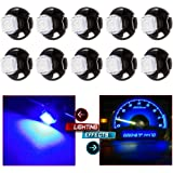 CCIYU 10 Pack Super Blue 5050 SMD T5 Neo Wedge LED Light Climate Heater Control Lamp Bulbs 12-14V DC For 1999-2001 Saab 9-3