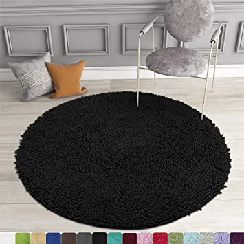 Deep Pile Living Room Rug Washable Shaggy Non-Slip One Colour In Pink