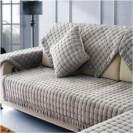 Amazon.com: Funda de funda para sofá, espesante de felpa ...