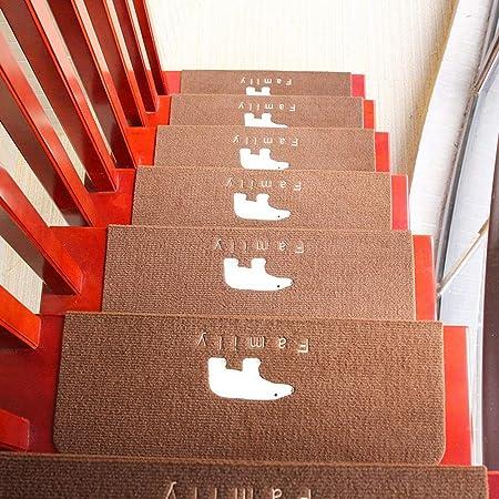 QFFL Alfombra para Escalera Antideslizantes Escalones Mats, Luminoso Escaleras Paso de Alfombras Pegamento Libre de Interior Al Aire Libre para Niños Ancianos Mascotas Perros Escalones Pad -15 Colores: Amazon.es: Hogar