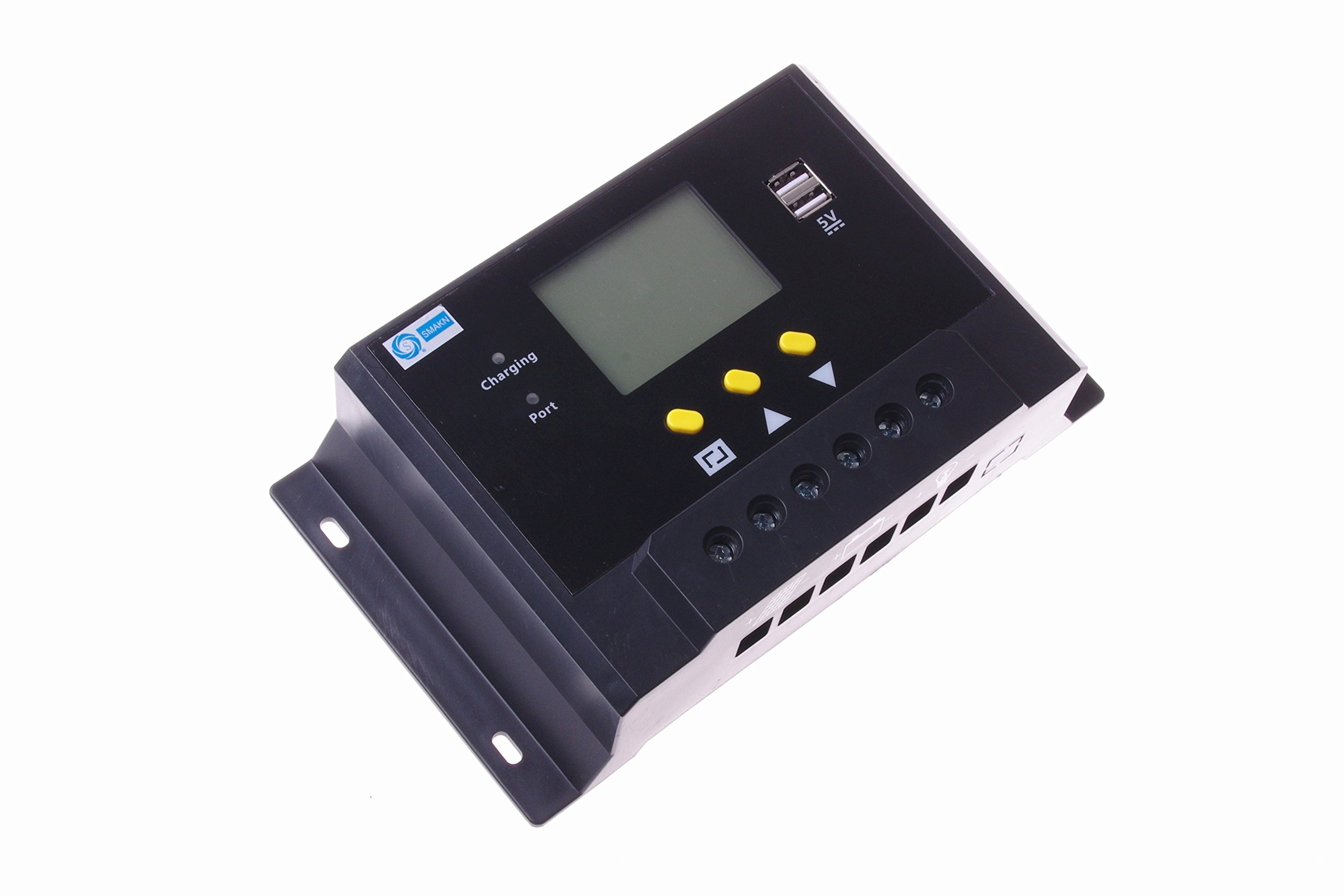 SMAKN® Intelligent LMS 50A 12V / 24V Liquid solar controller / power solar controller / flame