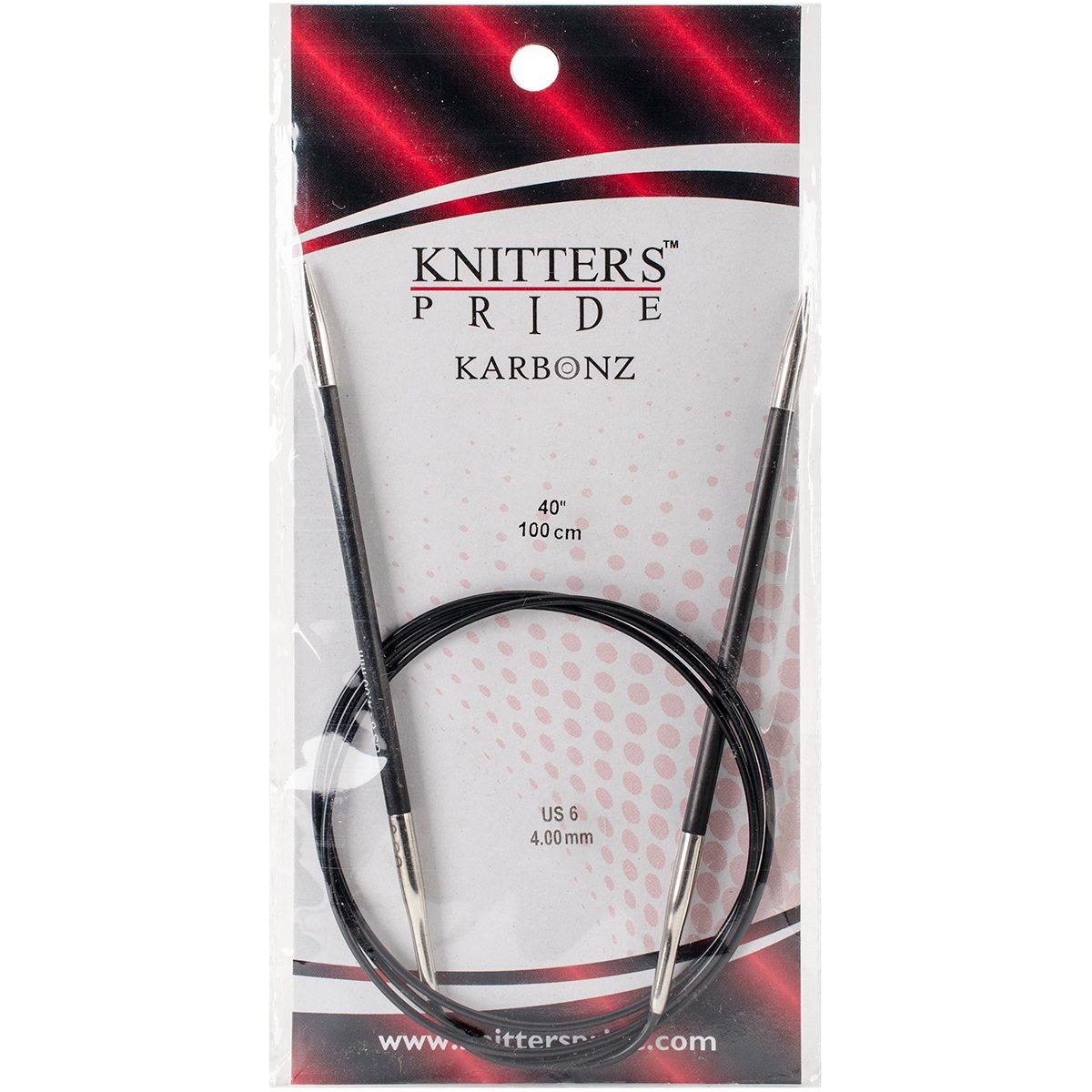 Knitter's Pride Karbonz Circular 40-inch (100cm) Knitting Needles; Size US 6 (4.00mm) 110239
