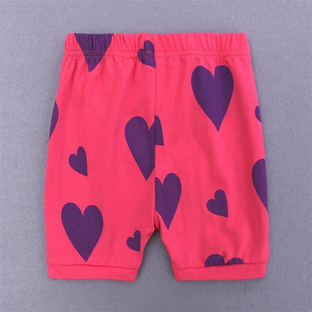 Simayixx Girls Short Pajamas Toddler Kids Sleepwear Summer Pjs Clothes Shirts