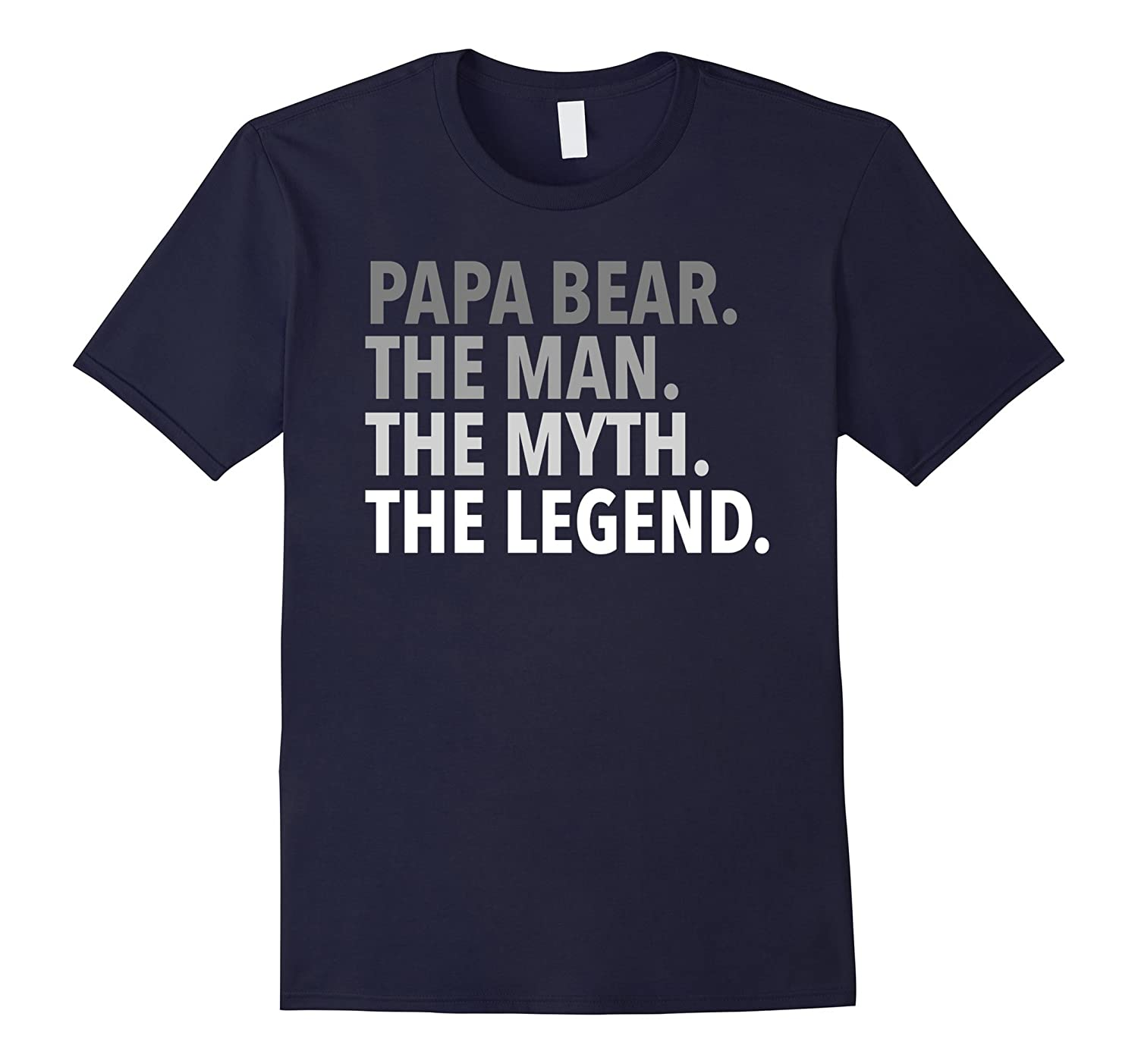 Mens Papa Bear - The Man The Myth The Legend T Shirt Dad Grandpa-TH