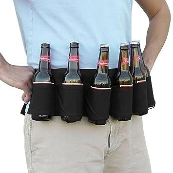 PILAAIDOU Bier & Soda Can Holster Gürtel für 6 Getränke - schwarz ...