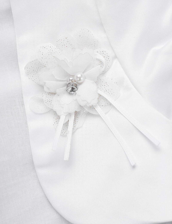 iEFiEL MSemis Kids Short Sleevs Shrug Bolero Jacket Coat Flower Girls Wedding Bridesmaid Dress Cover Up Cardigan