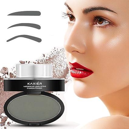 Ladygo - Juego para maquillar cejas, 3 plantillas para cejas, pincel, sombra para