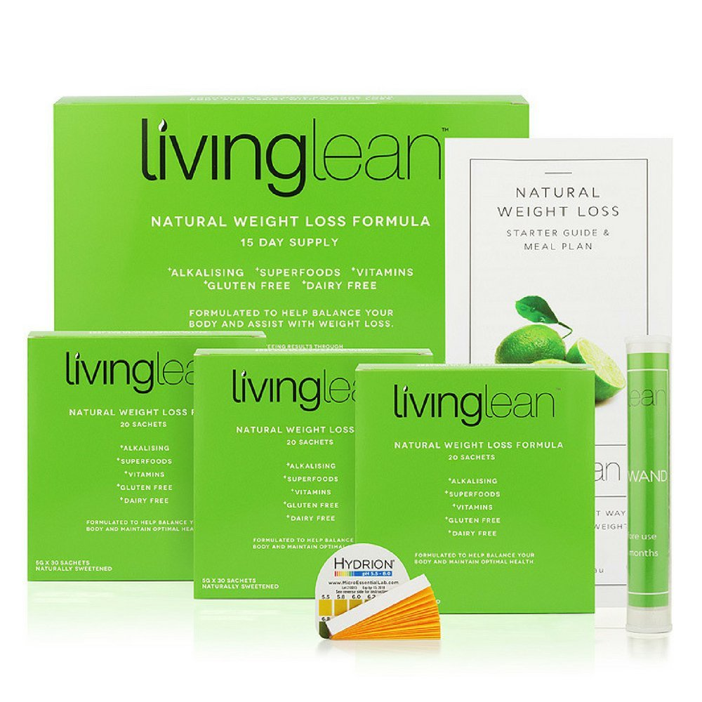 Living Lean Detox Cleanse Weight Loss Kit 15 Days - Vegan Natural Organic - Alkaline Your Body for Healthy & Sustainable Weight Loss & Digestion Support-Powerful Colon, Kidney, Liver & Bowel Cleanser by livinglean