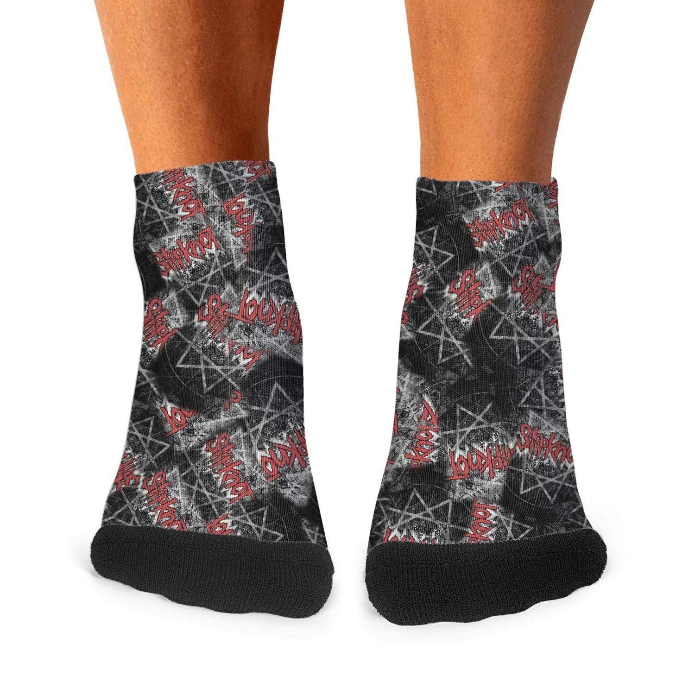 Mens Athletic Quarter Socks Ultra Soft Funny Slipknot-Come-Play-Dying Socks