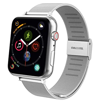 Hianjoo Correa Compatible con Apple Watch 38mm/ 40mm, Pulsera de Repuesto de Acero Inoxidable Hebilla Metal Banda Correas Compatible con iWatch Series ...
