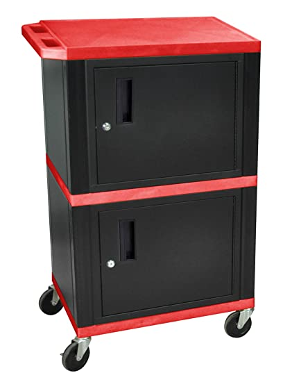 Luxor WT50R A/V Cart Double Cabinet