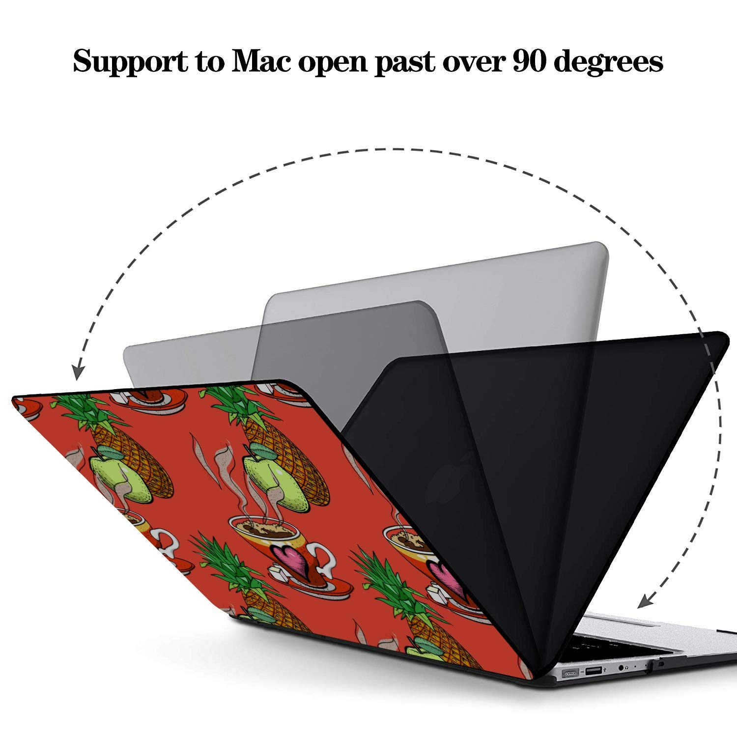 MacBook Protector Summer Fashion Sour Fruit Pineapple Plastic Hard Shell Compatible Mac Air 11 Pro 13 15 Mac Air Cover Protection for MacBook 2016-2019 Version